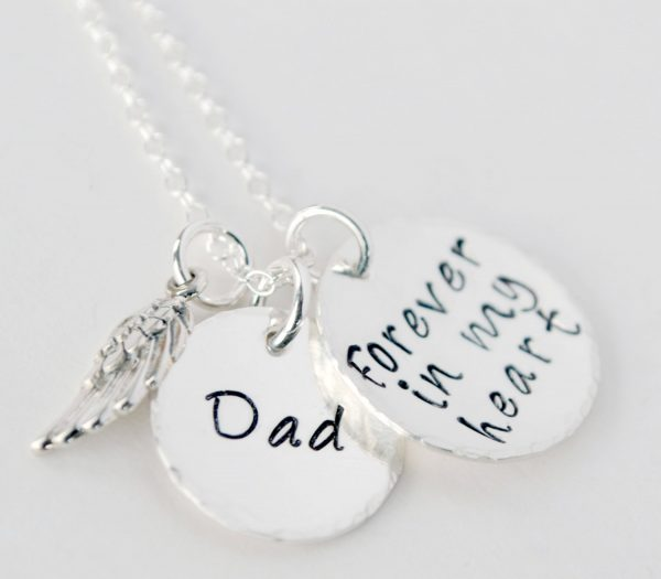 Dad Forever in My Heart Memorial Necklace