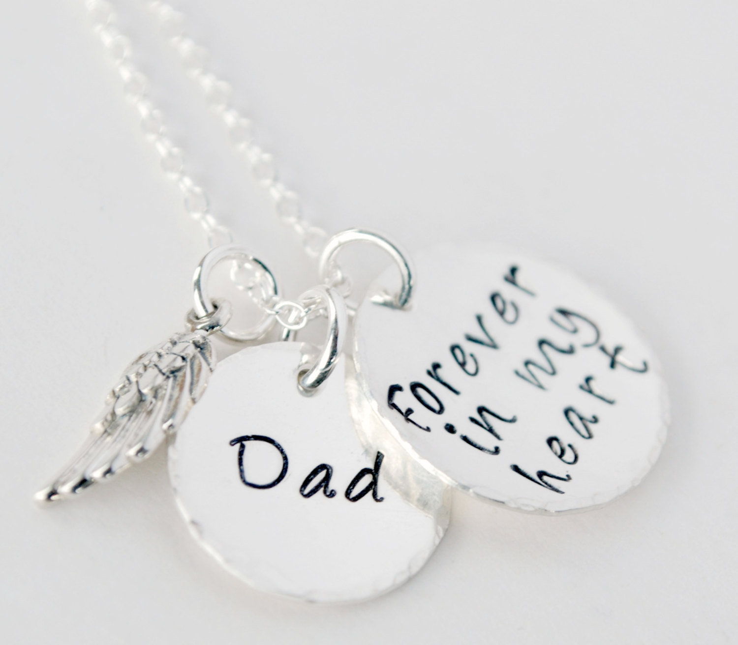 Dad, Forever in My Heart Memorial Necklace