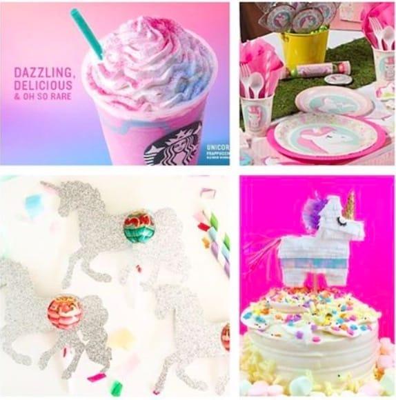 Unicorn Frappuccino + Unicorn Party