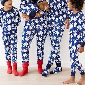 Yeti Family Matching Holiday Pajamas