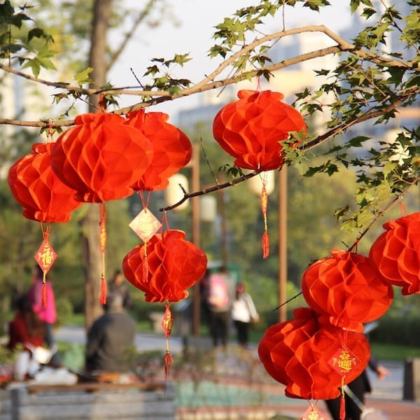 Chinese New Year Red Paper Lantern Decorations
