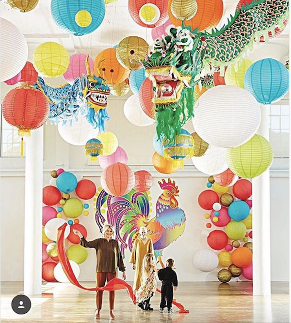 Paper Lanterns eat Chinese New Year Celebration