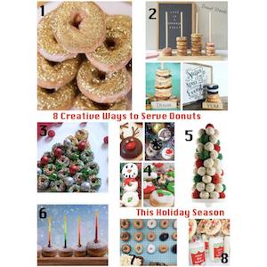8 Creative Ways to Sersve Donuts this Holiday Season