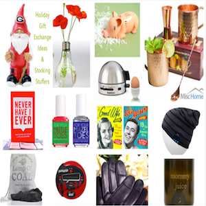 Holiday Gift Exchange Ideas and Stocking Stuffers