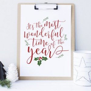 Tis the Most Wonderful Time of the Year Printable Christmas Decor