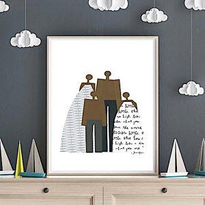 Printable Family Portrait